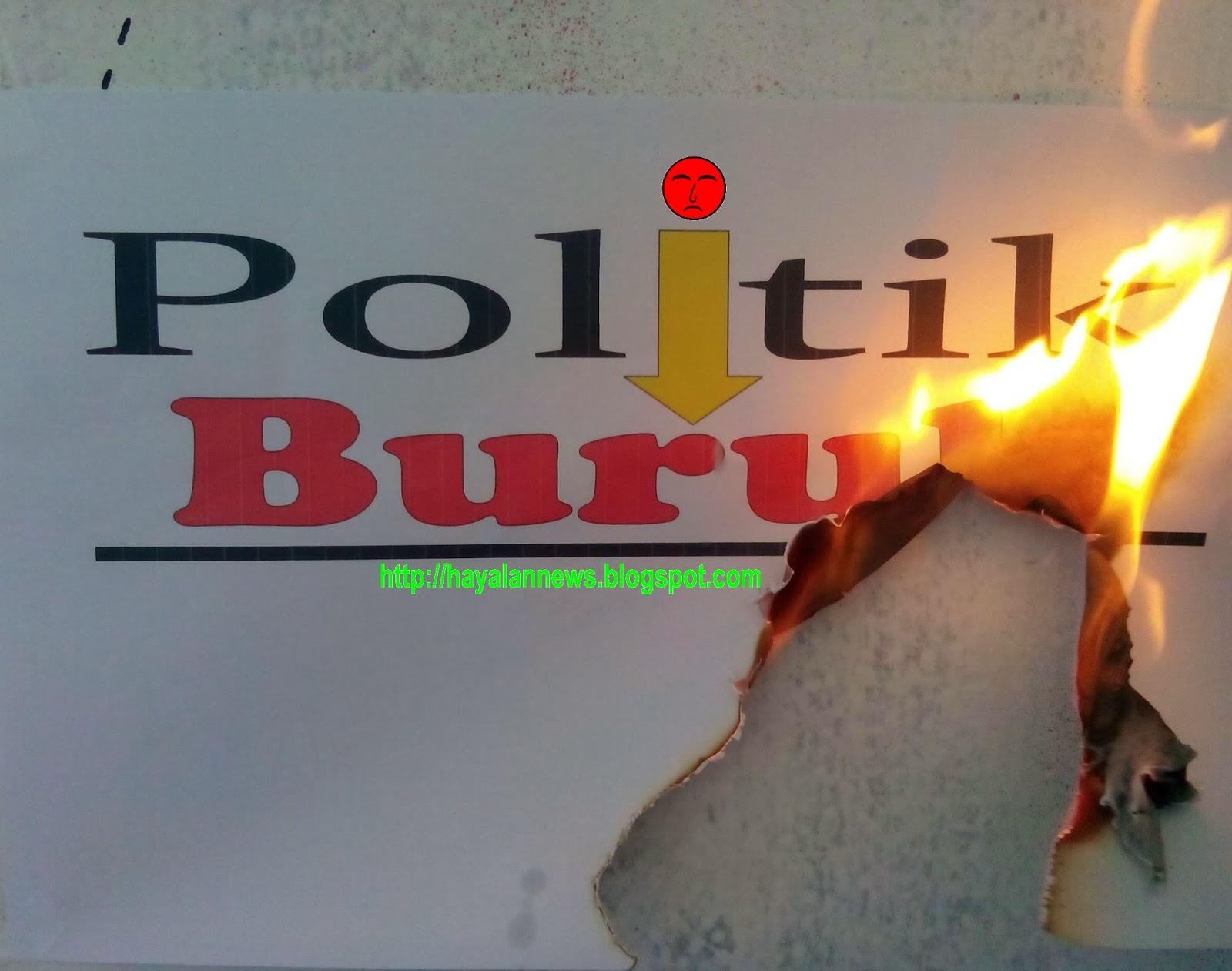 Politik buruk calon pemimpin menjelang pemilu