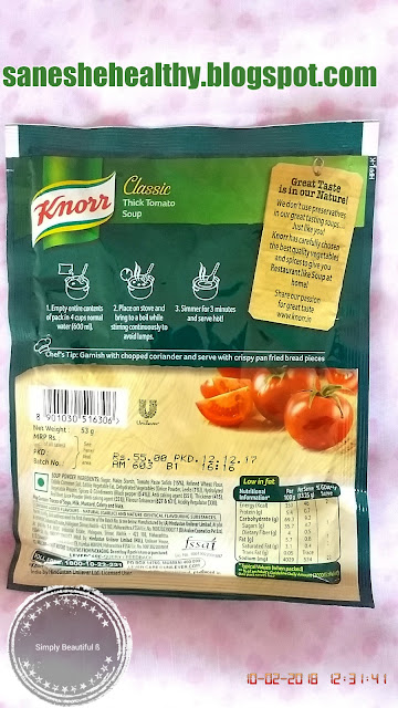 Easy to make knorr classic thick tomato soup.