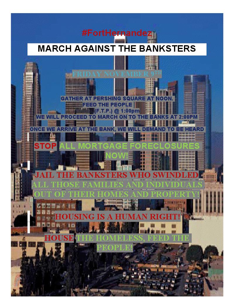 Censored News March Against The Banksters La Nov 9 2012