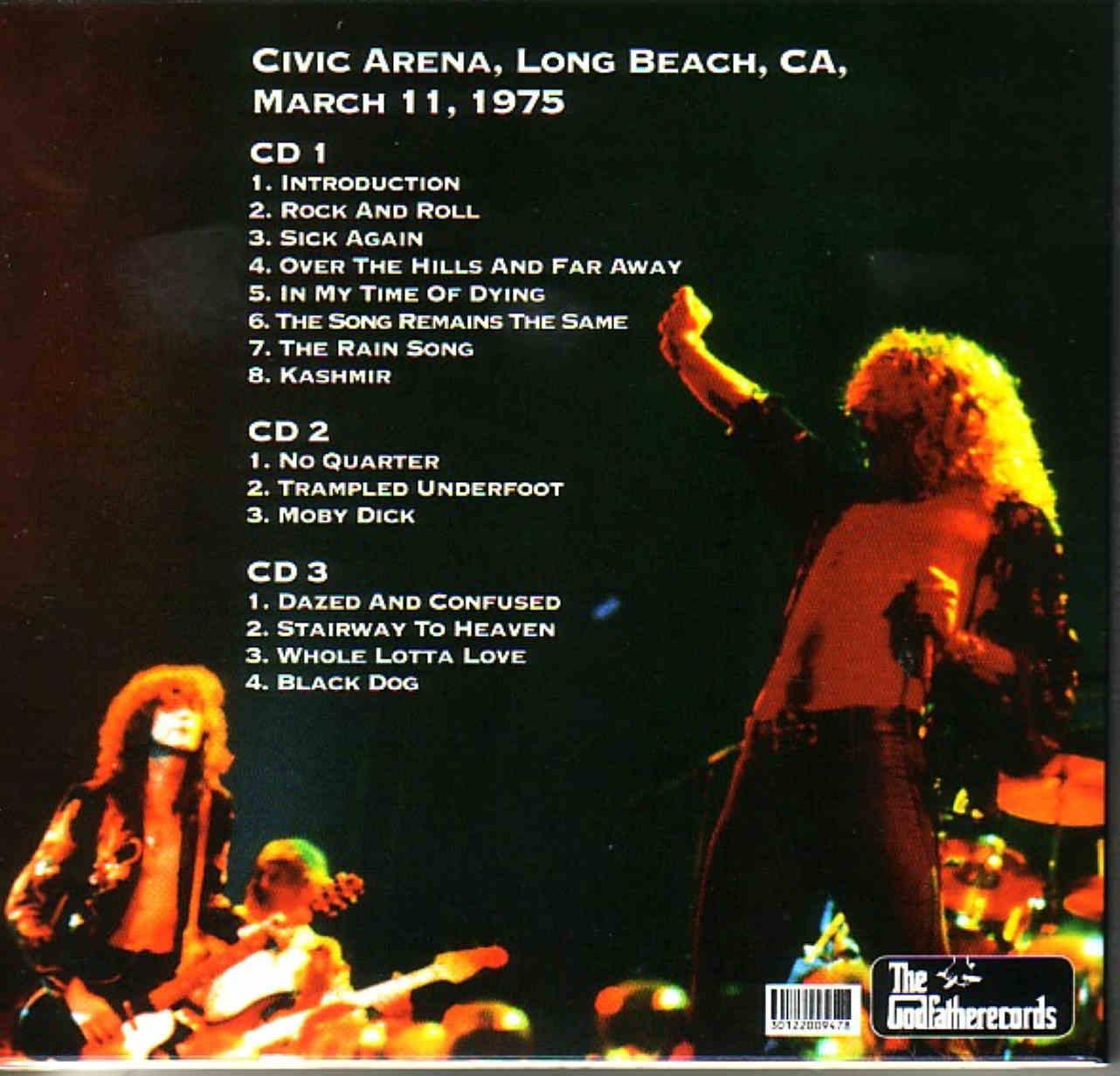 Led Zeppelin The American Return Long Beach Arena Long