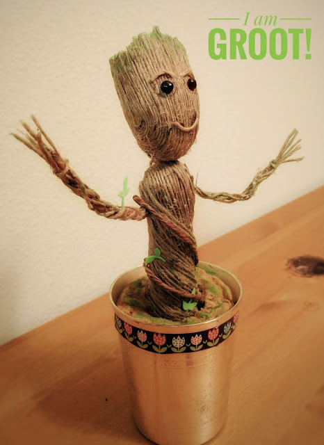Groot, Guardians of the galaxy vol 2, GoTGvol2, Crafts, Guardians of the galaxy, Kids, Toddler, Craftymom, Jute Craft, Tree Craft