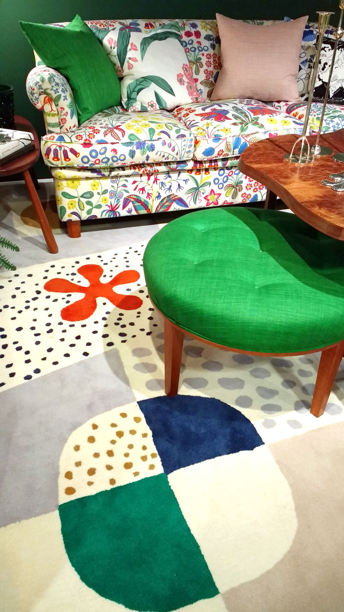Josef Frank room set up At The Fashion And Textile Museum London On Kim Dellow's Blog
