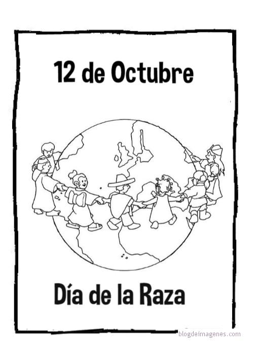 Dibujos Día De La Raza Para Colorear Blog De Imágenes