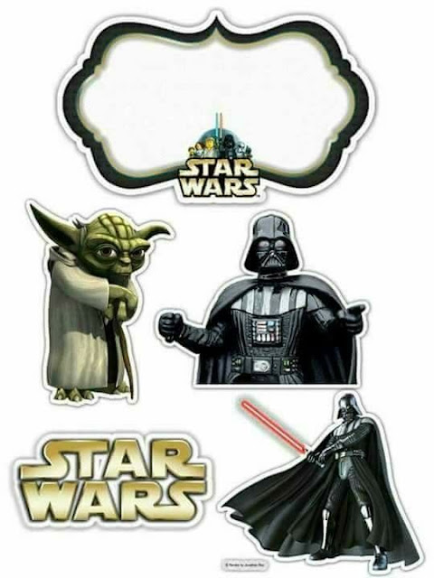 Star Wars Free Printable Cake Toppers.