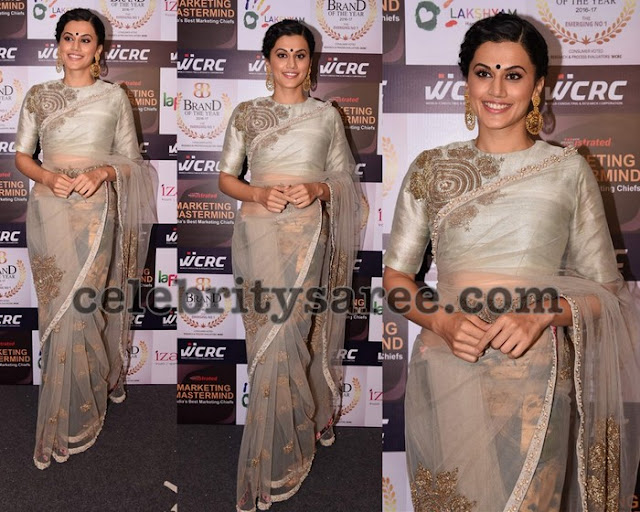Tapsee in Bhumika Sharma Saree