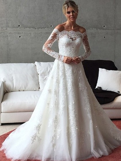 http://www.dressfashion.co.uk/product/a-line-off-the-shoulder-tulle-sweep-train-appliques-lace-long-sleeve-graceful-wedding-dresses-ukm00022