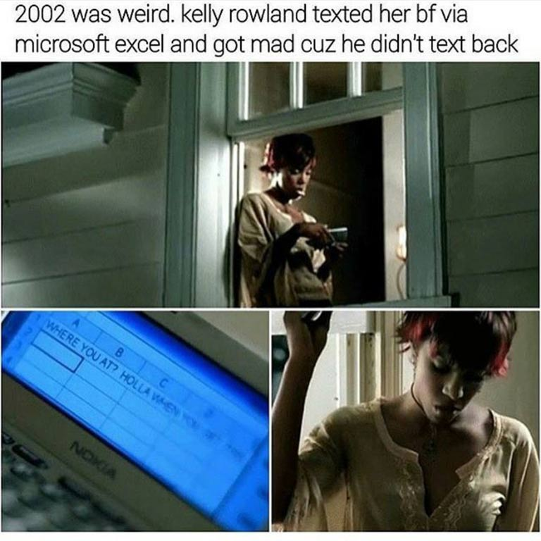 Kelly Rowland - Microsoft Excel