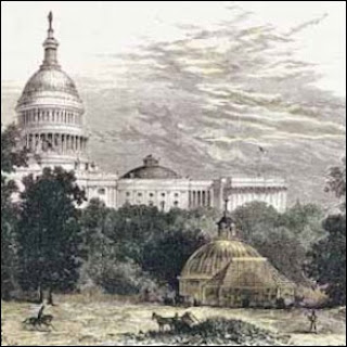 A painting of the U.S. Botanic Garden from 1874