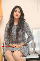 Actress Chandini Chowdary Pos in Short Dress at Howrah Bridge Movie Press Meet  0184.JPG