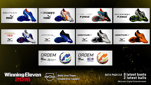 PES 2016 Update Data Pack 2.0