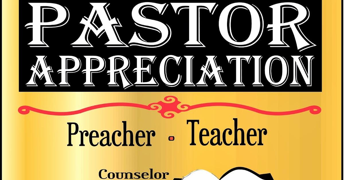 Preacher's Blog: Pastor, I Appreciate You