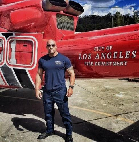 Dwayne Johnson pe platourile de filmare ale filmului San Andreas