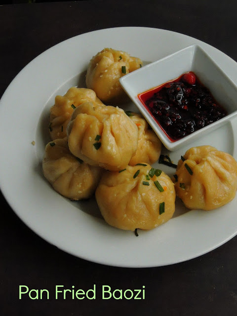 Chicken Carrot Baozi, Panfried Chinese Buns