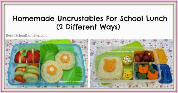 Homemade Uncrustables for bento school lunches