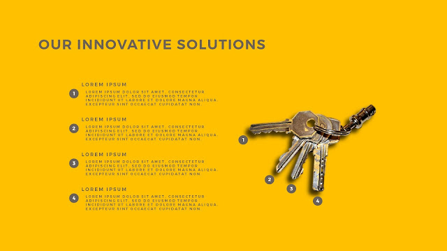 Innovative Solutions of 4 Keys Infographics Free PowerPoint Template