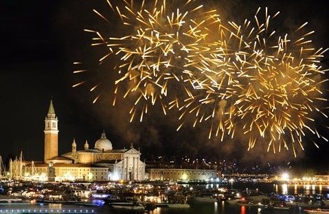 Fireworks at the Festa del Redentore, 2015