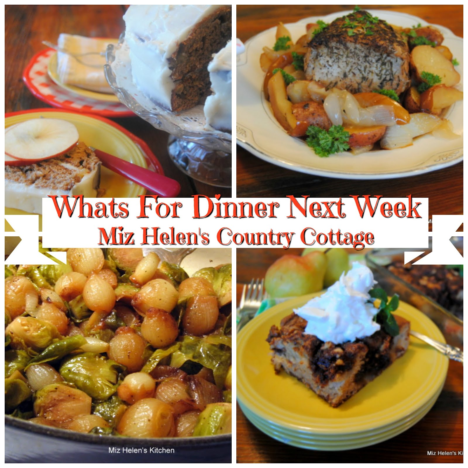 Whats For Dinner Next Week * Week of 11-11-18