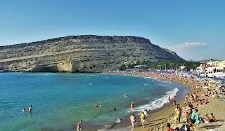 Kreta, Matala, Plaża, Beach,