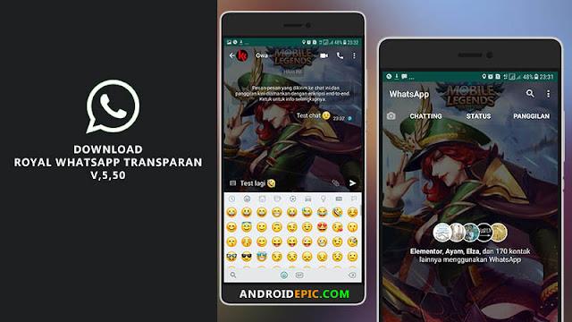 Royal WhatsApp Transparan adalah aplikasi whatsapp versi modifikasi yang sederhana namun memiliki tampilan yang elegan dan ringan sekali.