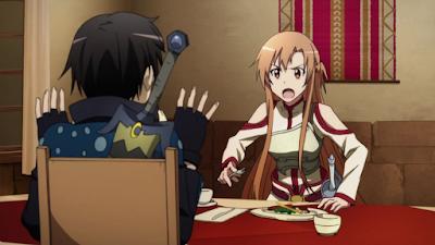 Asuna memarahi Kirito