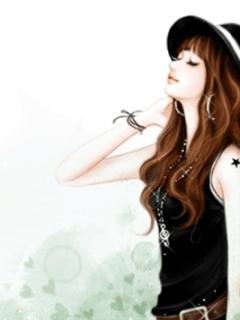Korean Cute Cartoon Pictures: Stylish Girls