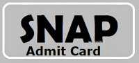 SNAP Admit Card