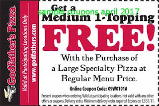 Godfathers Pizza coupons april 2017
