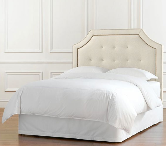 idea quilt bed headboard quilted white