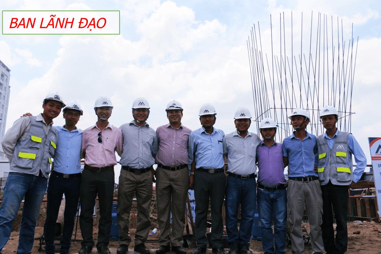 Đội ngũ lãnh đạo của dự án công ty Xuân Mai