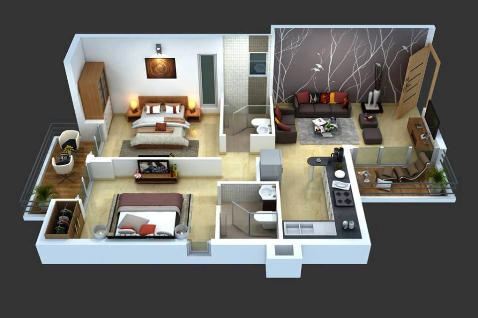 Top 8 3d cozy home plans decor units for Cozy home plans