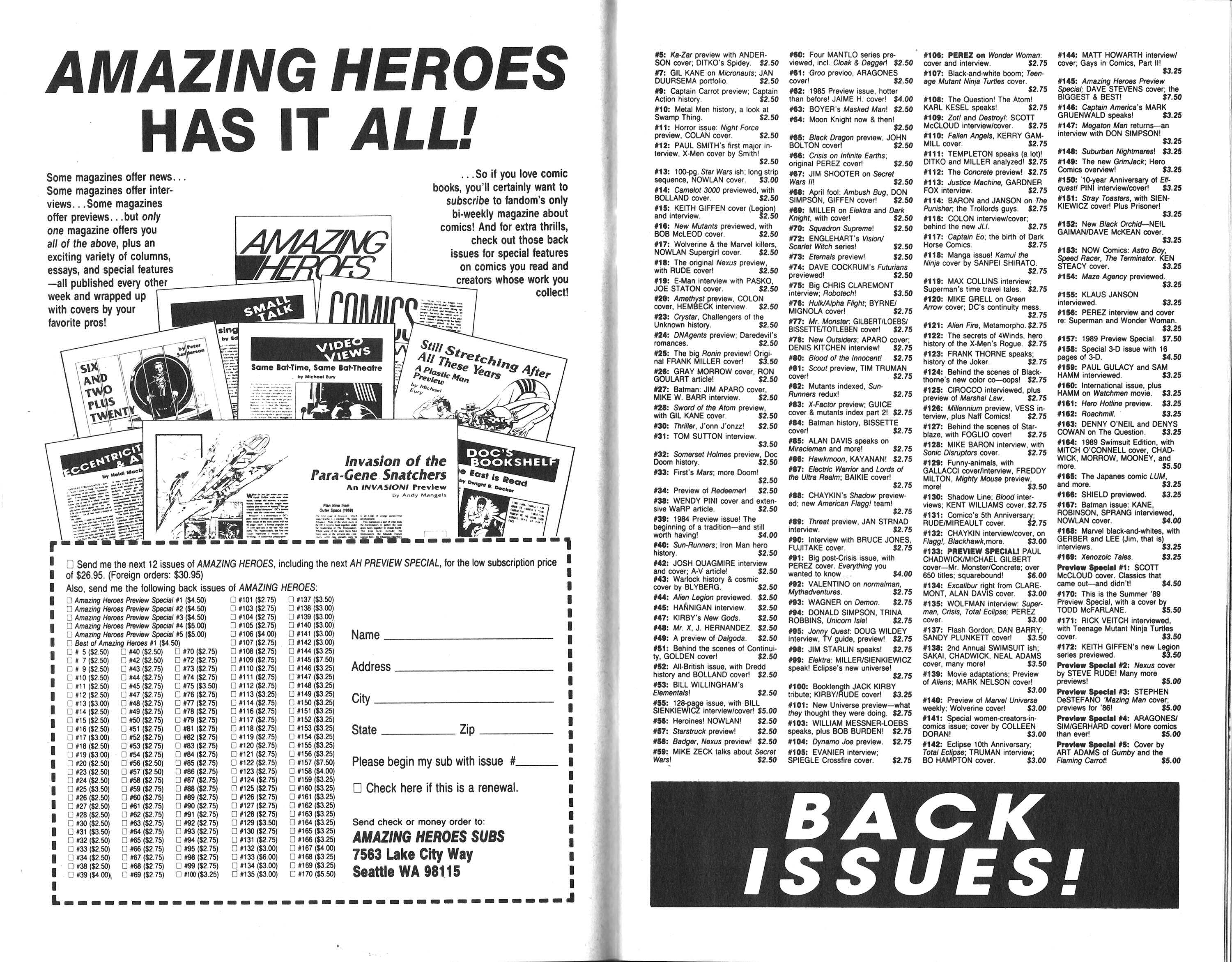 Read online Amazing Heroes comic -  Issue #174 - 17