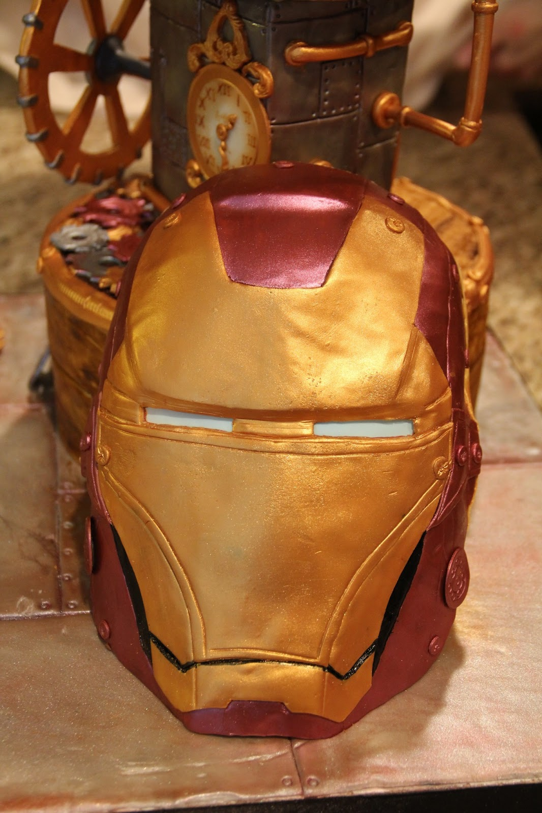 Delectable Cakes Steampunk Iron Man Cake