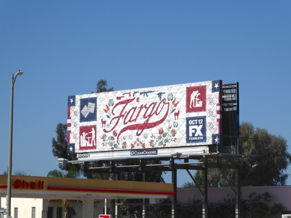 Fargo season 2 quilt billboard