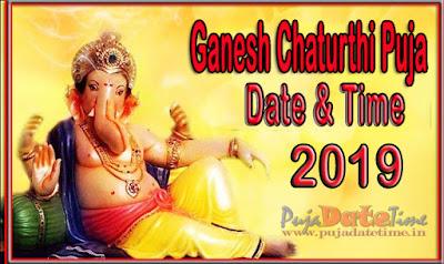 2019 Ganesh Chaturthi Puja Date