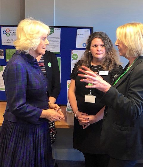 The Duchess visited Frome Medical Centre