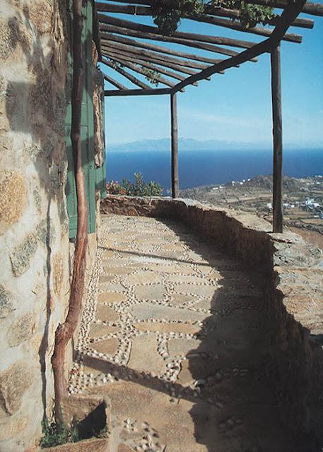 maison Mykonos avec vue sur la Méditerranée