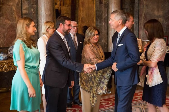 Grand Duke Henri and Grand Duchess Maria Teresa  Hereditary Grand Duke Guillaume and Hereditary Grand Duchess Stéphanie of Luxembourg