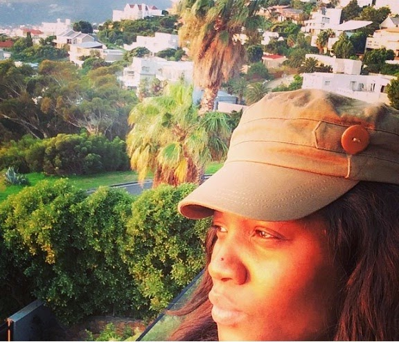 omotola jalade family vacation south africa