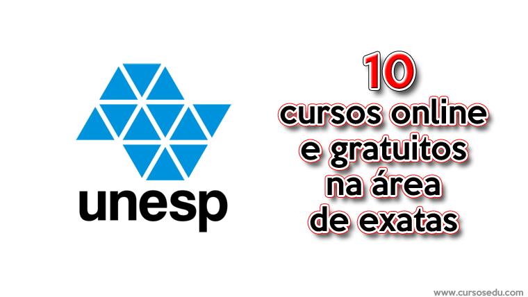 UNESP oferece 10 cursos gratuitos na área de exatas