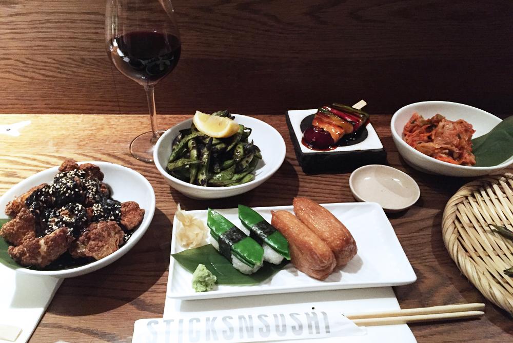 Sticks'n'Sushi Vegan meal