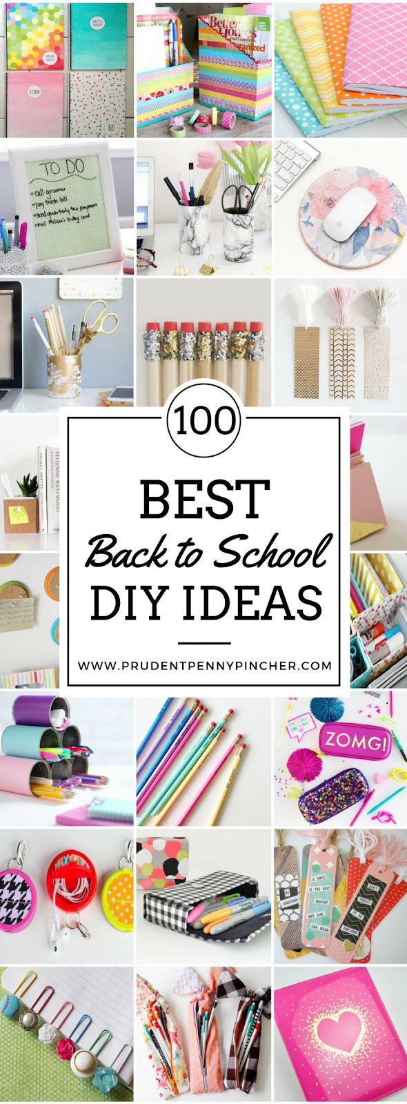 http://www.prudentpennypincher.com/100-back-to-school-diy-ideas/