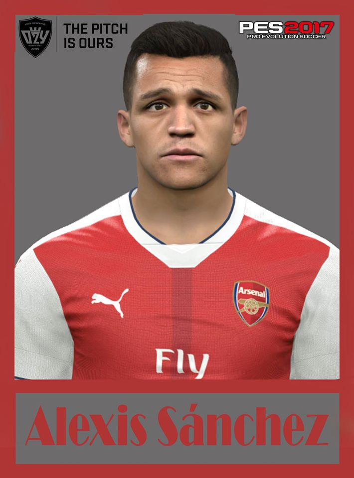 PES 2017 Alexis Sánchez (Arsenal F.C) Face by Ozy_96 PESMOD