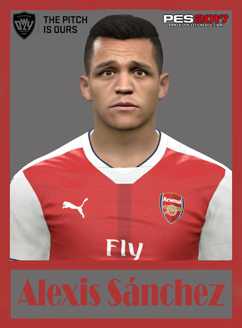 PES 2017 Alexis Sánchez (Arsenal F.C) Face by Ozy_96 PESMOD