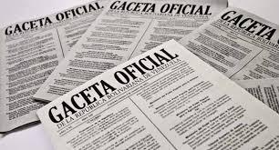 SUMARIO Gaceta Oficial N° 41.626 6 de mayo de 2019