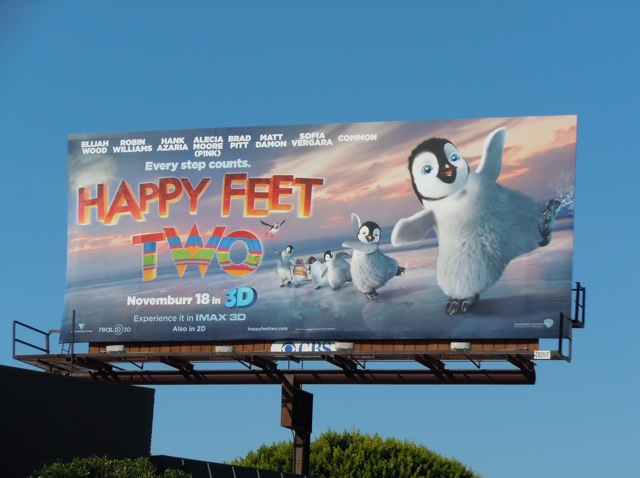 Happy Feet Two skating billboard