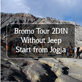 bromo tour without jeep