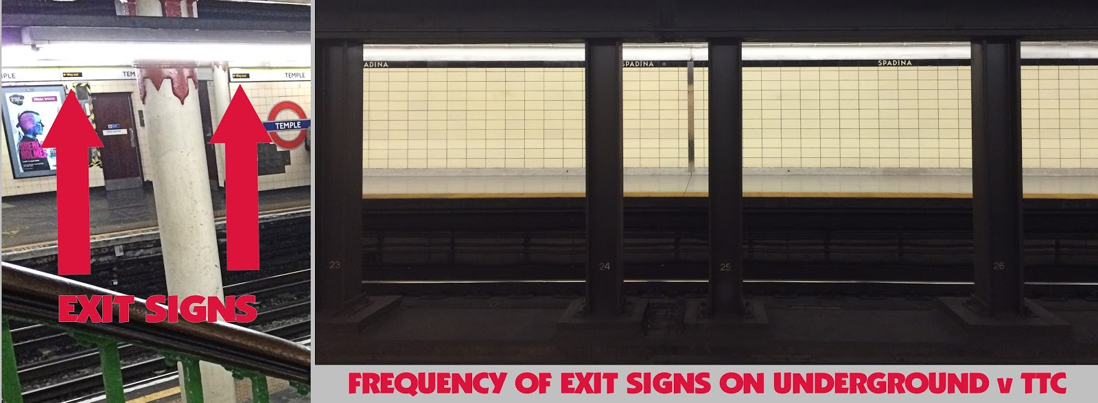 London Underground TTC Exit Signs