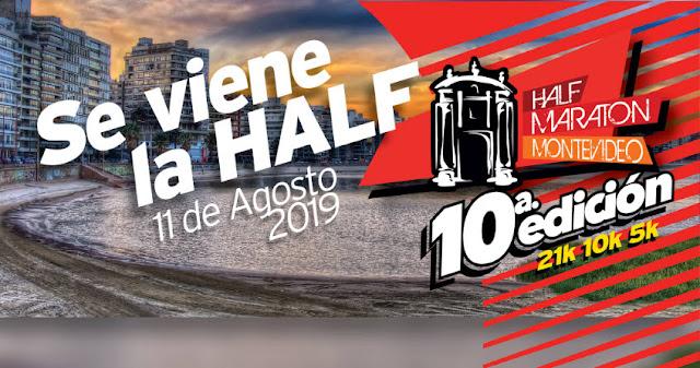 Half Maratón Montevideo (21k 10k 5k - Canteras del parque Rodó, 11/ago/2019)