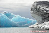 Icebergs en el lago glaciar, Jokusarlón, Blog de Viajes a Islandia