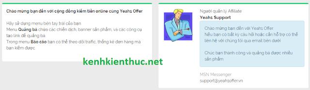 Hướng dẫn đăng ký và kiếm tiền với Yeah1 Offer
